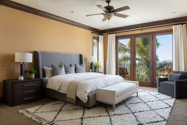 Master Bedroom Includes a King Bed.