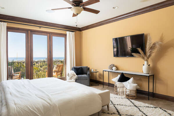 Enjoy Ocean Views From Bedroom.