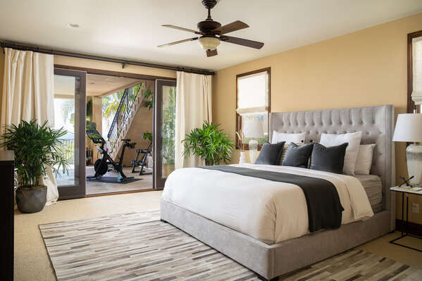 Guest Suite Includes Spacious King Bed.