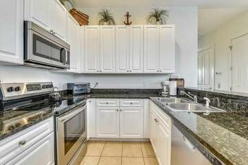 Kitchen with everything you need for a great vacation!