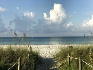 The beach is just a short 3 minute walk from your vacation home!