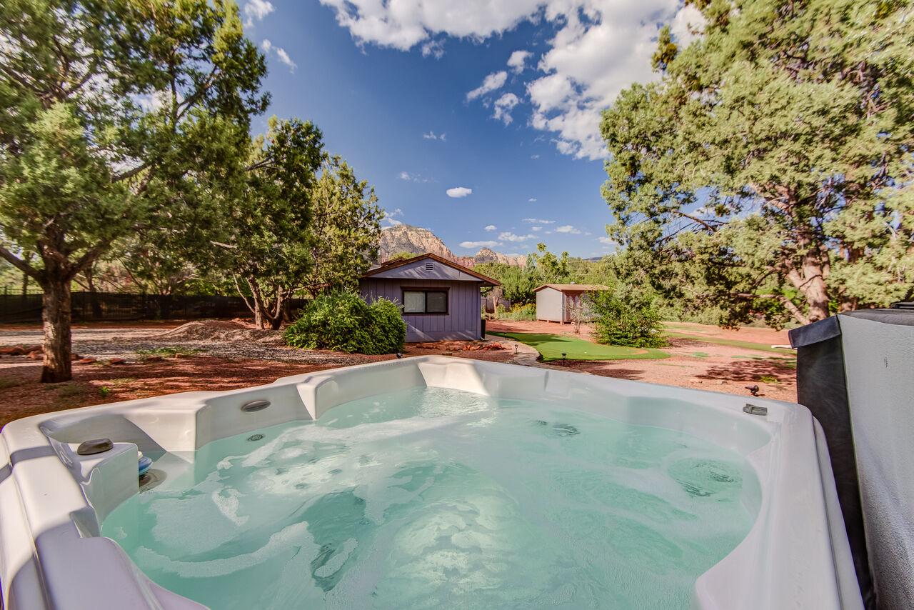 Relax in the Private Hot Tub after  Your Day's Activities