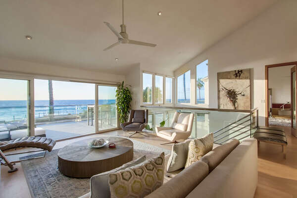 Upper Level Living Room with Ocean Views