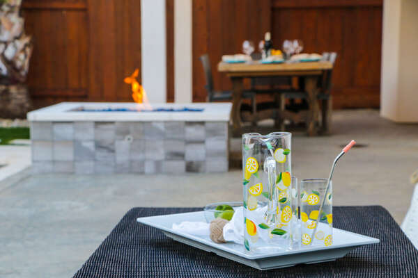 Sip Cocktails by the Pool and Fire Pit