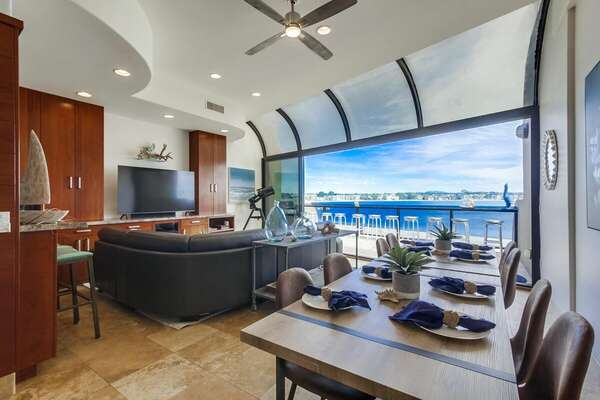 Open Layout in Vacation Rental  in San Diego.