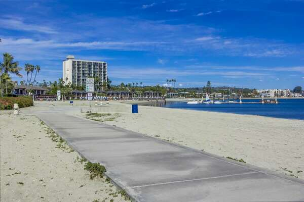 Vacation Rental  in San Diego is Located Off of Bay.