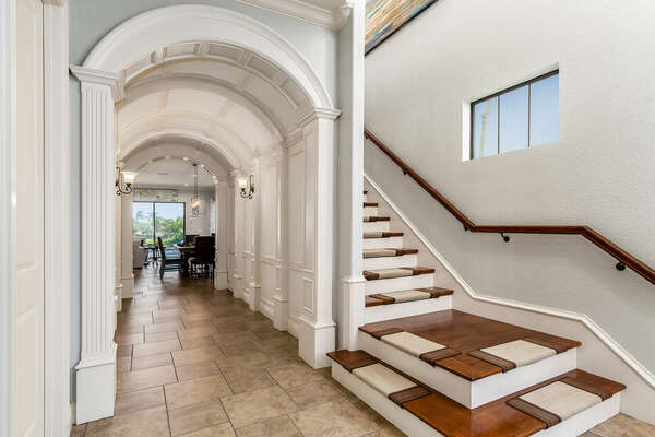 Feel welcome from the moment you step inside Walk through the beautiful arched foyer to see what the home has in store