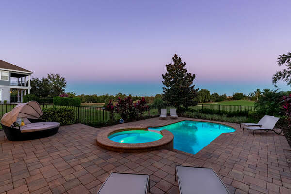 Breathtaking golf views from your private oasis
