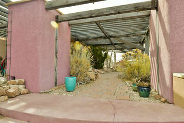 Exterior view of this Moab place to stay.