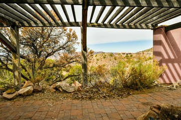 View of the desert landscaping surrounding this property.