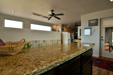 Fully-equipped kitchen with plenty of counter space