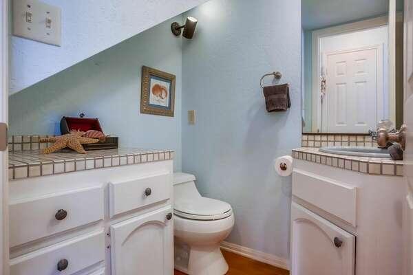 Half Bathroom on Floor 2 of our Mission Beach House Rental