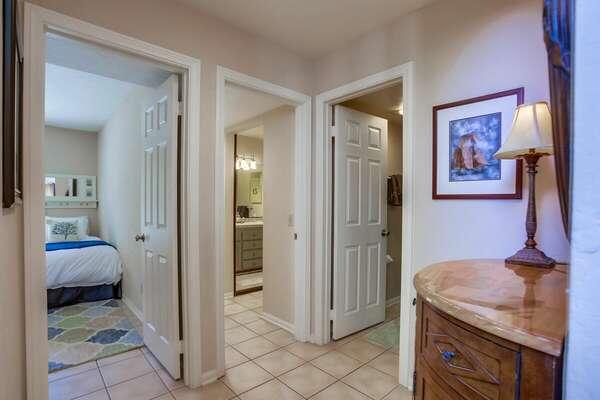 Ground Floor Hallway Between Bedrooms in BALBOA832