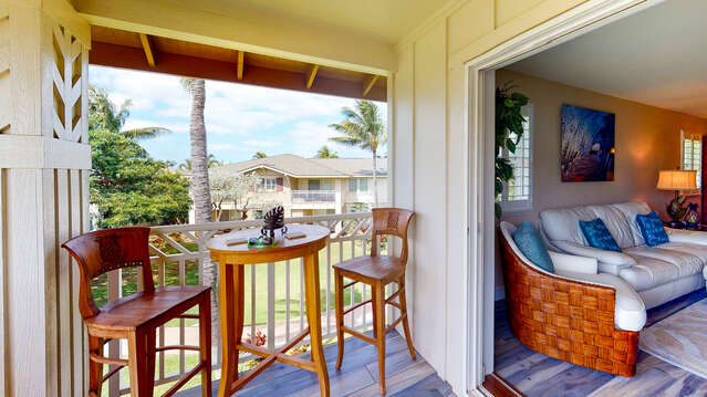 Alfresco Dining on Your Private Lanai