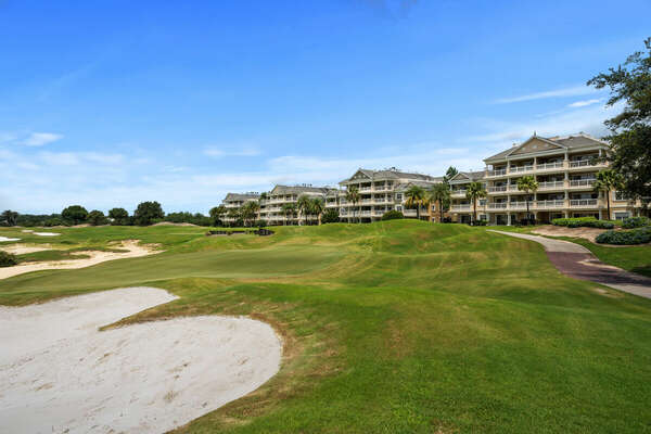 The Centre Court Ridge neighborhood is surrounded by the Tom Watson Independence Golf Course