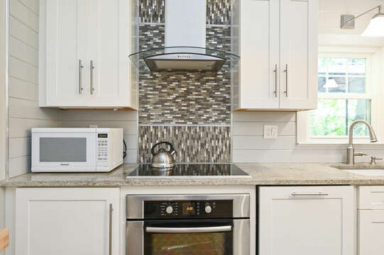 Amazing back splash for stove and hood - 46 Holly Point Road Centerville Cape Cod