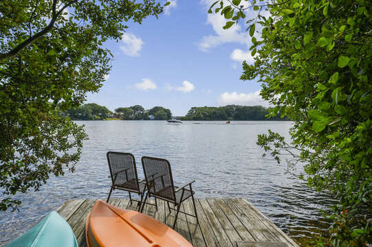 Private dock on Lake Wequaquet - 46 Holly Point Road Centerville Cape Cod