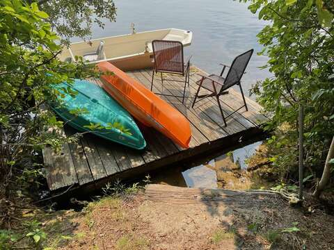 Canoes for guest use - 46 Holly Point Road Centerville Cape Cod