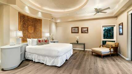 Master suite includes central AC
