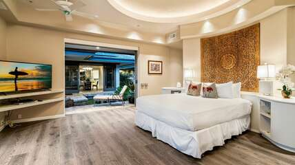 Master suite includes a King bed, TV