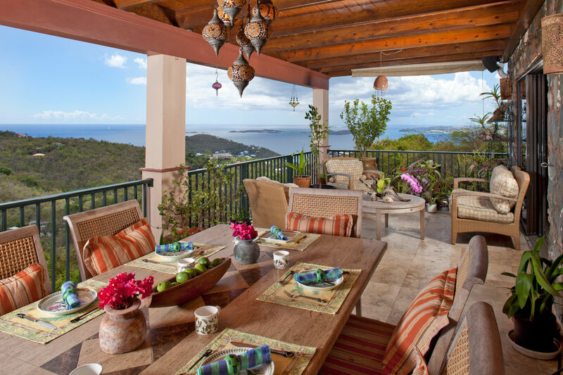 Outdoor living on St. John at it's finest!