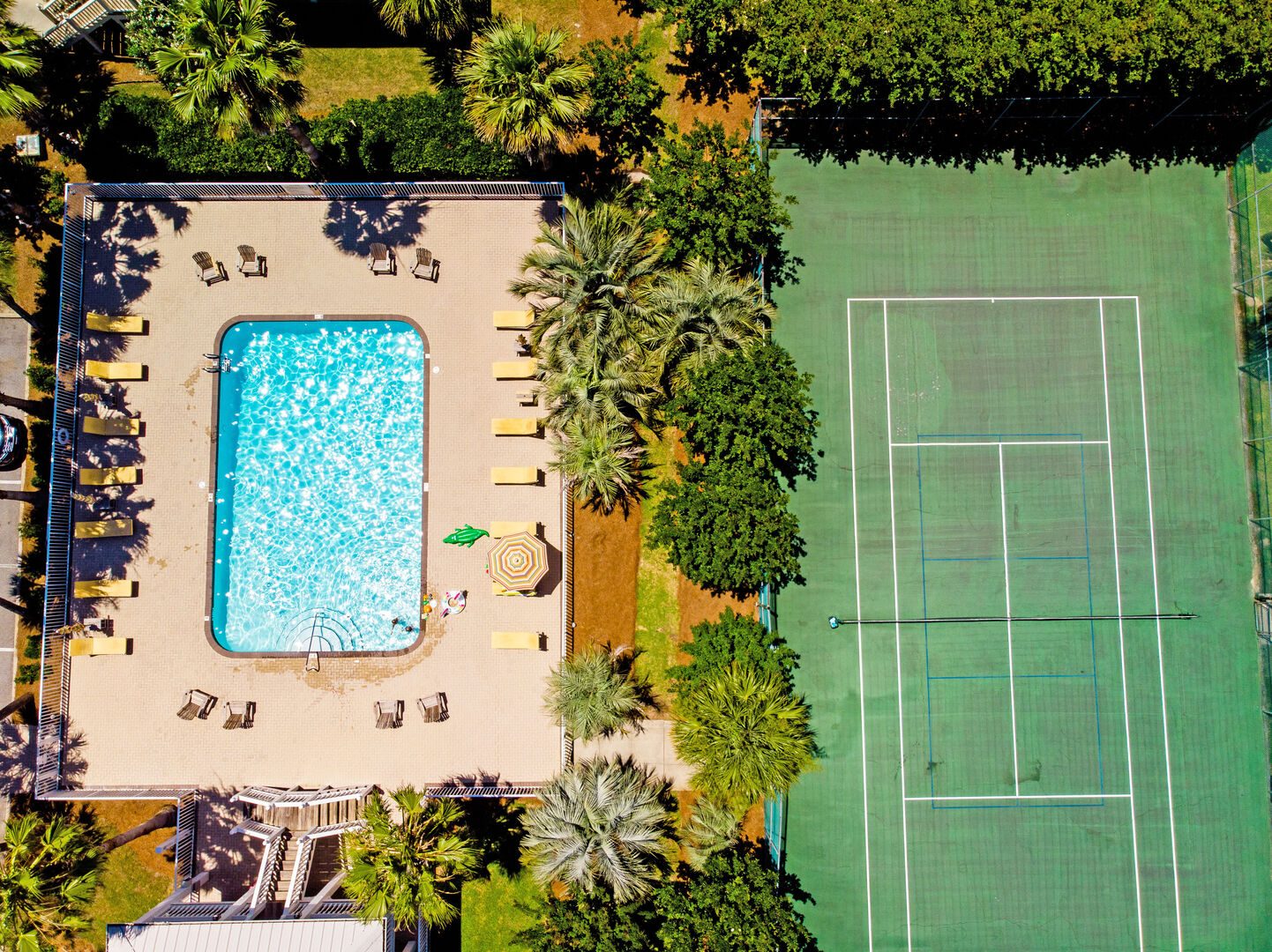 Play a Game of Tennis or Take a Dip in the Pool.