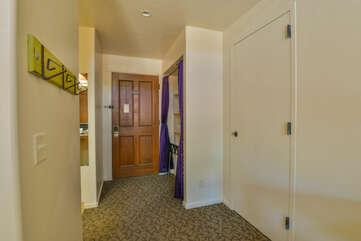 Hallway entranceway to unit