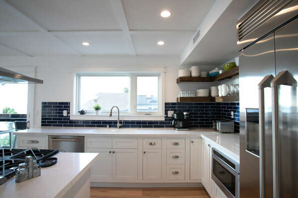 The Clean and Bright Kitchen Offers Great Views