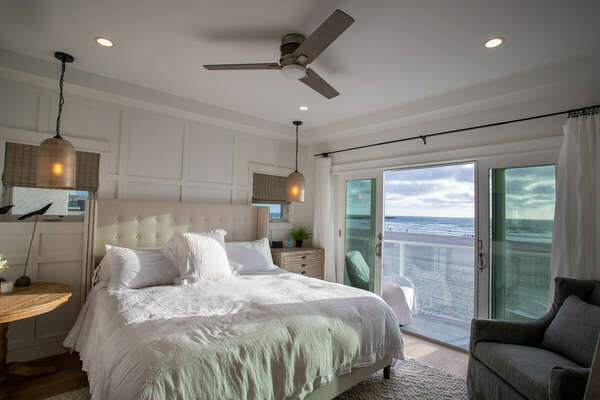 Master Bedroom with a King Bed in our Mission Beach House Rental