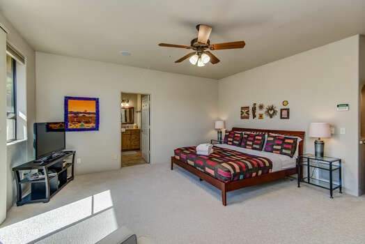 Master Bedroom with a King Bed, and Private Bath