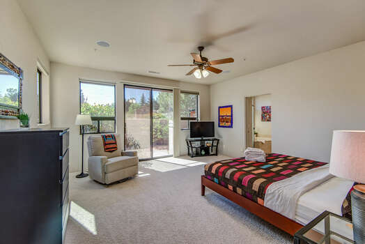 Large Master Bedroom with Access to the Private Patio