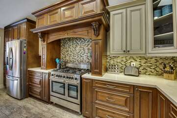 Bring your favorite recipe because the fully-equipped kitchen will have everything you need to cook those homemade meals,