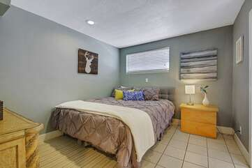Suite 2 is located downstairs, first door on the right and features a Cal King-sized Bed, and private, en suite bathroom.