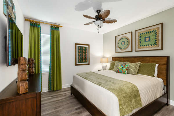 Enter a tropical paradise in this bedroom