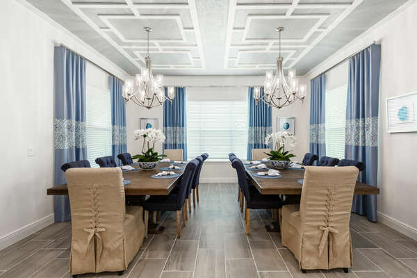 Bring the family together in the formal dining room