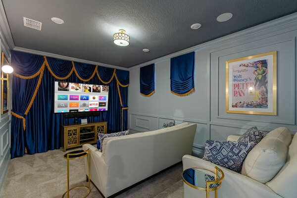 Have a night in the majestic theater room
