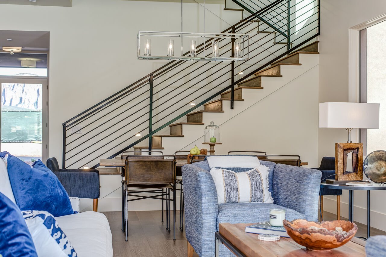 Dining Area and Stairway to the Upper Level Bedrooms