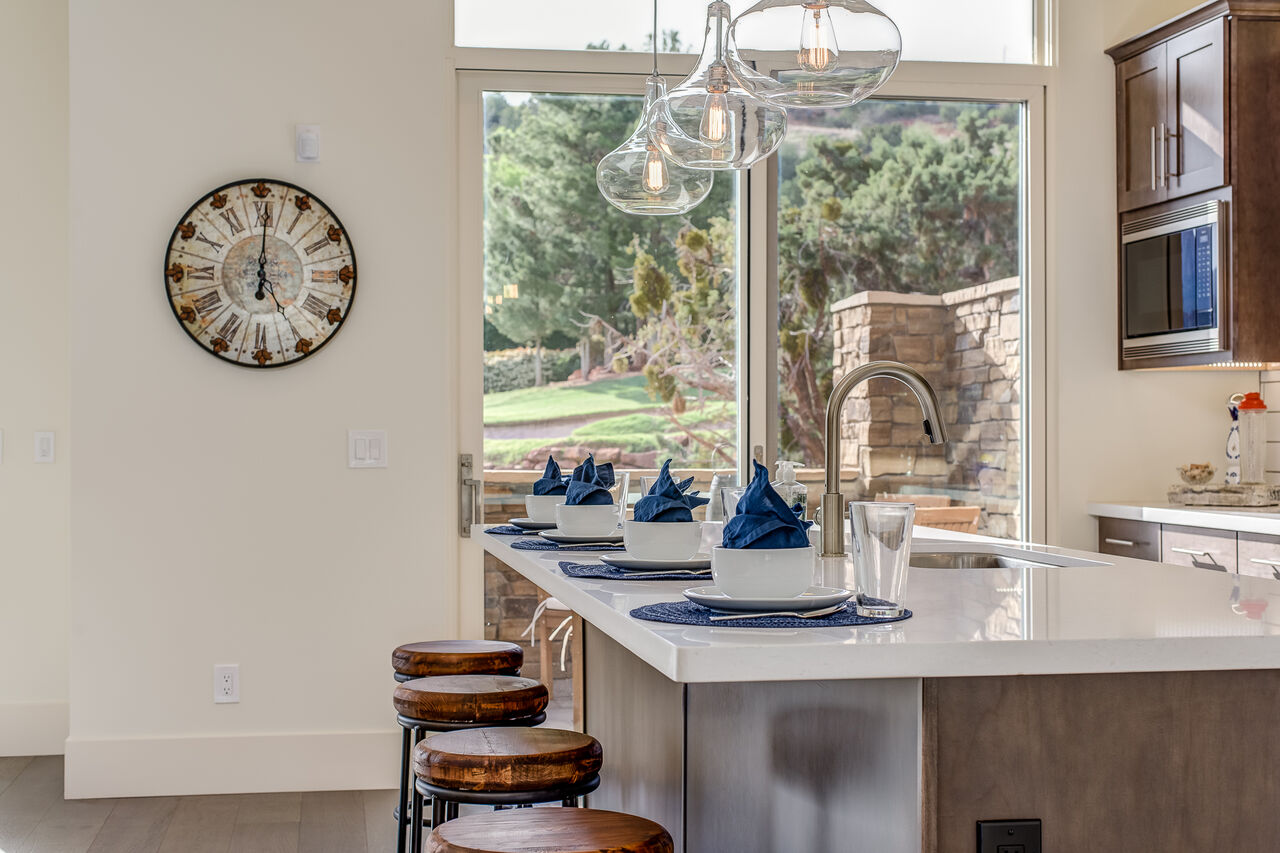 Wonderful Views and Patio Access from the Kitchen