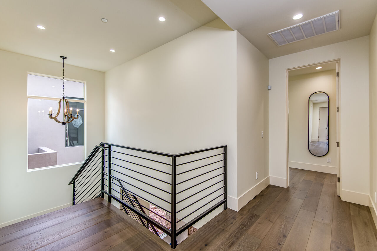 Upper Level with Hardwood Floors - Entry to the Master Bedroom