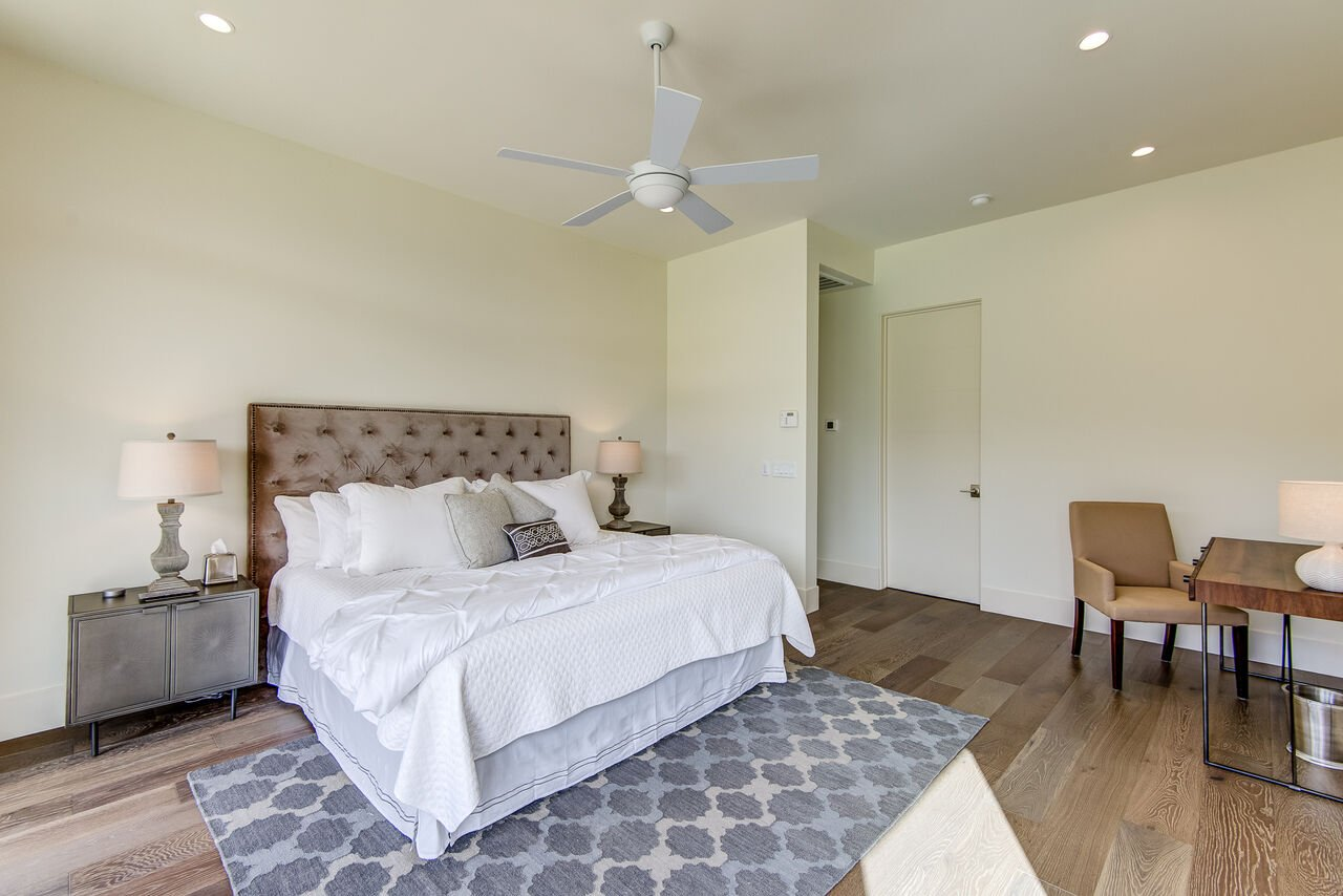 Master Bedroom with a King Bed and Desk