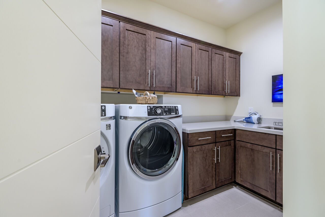 Laundry Room with Full-size Front Load Washer and Dryer