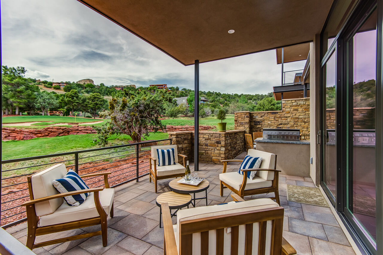 Comfortable Patio Seating with Great Views