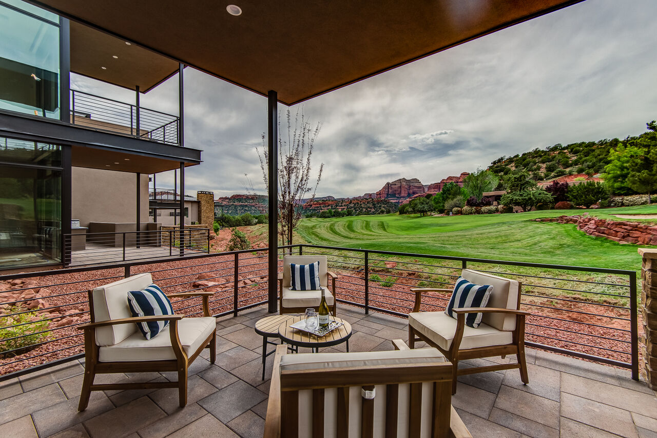 Main Level Patio that Overlooks the Golf Course