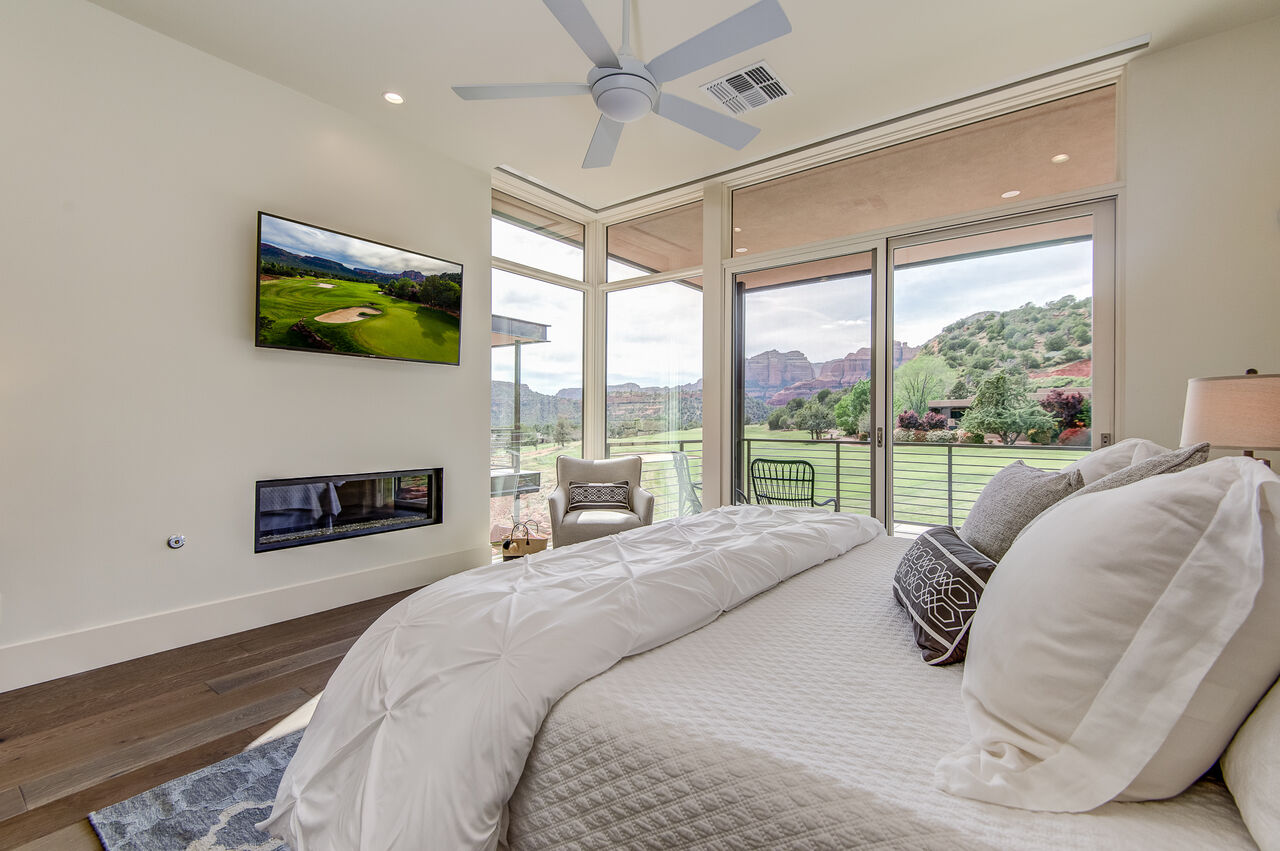 Master Bedroom with a Gas Fireplace, 50