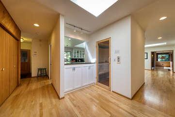 Natural light and hardwood flooring