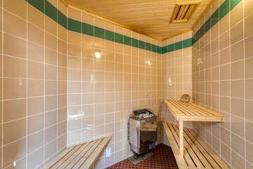 De-stress in the sauna