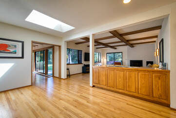 Natural light and picture windows throughout
