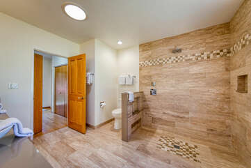 Fully updated bathroom with extra large shower