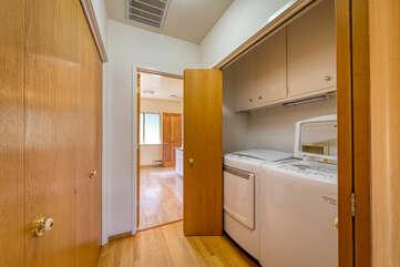 Easy access laundry room