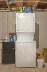 Washer/dryer combo in basement